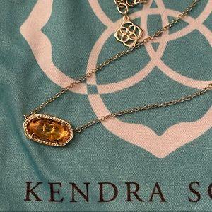 Kendra Scott Elisa Gold & Amber Necklace